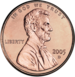 2005 US cent, obverse side]