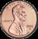 2005 US cent, obverse side]