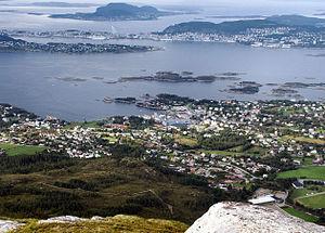Sula, Møre og Romsdal - View of Langevåg (looking towards Ålesund)