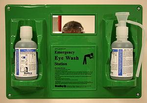 Eyewash - An eye wash station in a laboratory