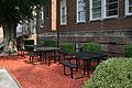 2008-07-23 Picnic tables at Durham Public Schools Central Services.jpg