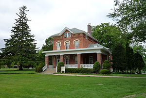 Luther College (Iowa) - Campus House, built in 1867, is the oldest building on campus.  Originally a parsonage for Nils O. Brandt (1824-1921), pastor of the campus, it was soon purchased by the College.