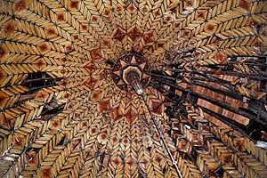Çelebi Sultan Mehmed Mosque - The inner wooden roof with the interior dome