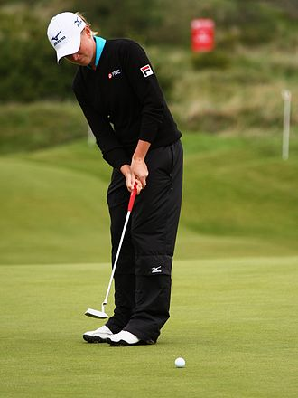 Putter - Stacy Lewis putting at the 2010 British Open.