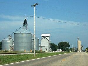 Mineral, Illinois - Grain elevator in Mineral