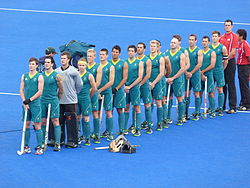 2012 Olympic field hockey team Australia.JPG