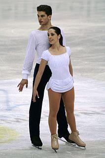 Nicole Della Monica Italian pair skater
