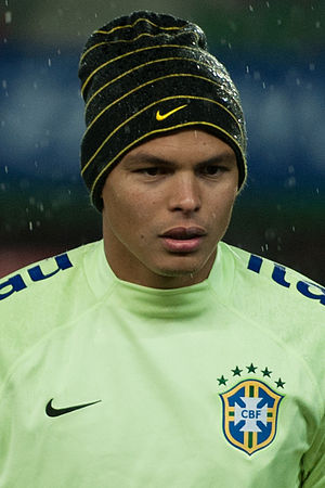 Thiago Silva - Thiago Silva warming up for Brazil in 2014