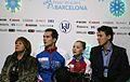 2014 ISU Junior Grand Prix Final Maria Vigalova Egor Zakroev Valentina Tiukova Pavel Sliusarenko IMG 2213.JPG