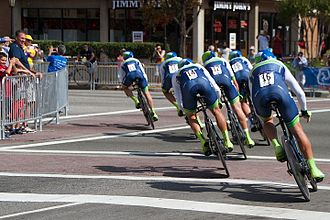 2015 UCI Road World Championships – Men's team time trial - Orica-GreenEDGE finished fourth
