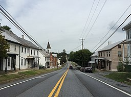 2016-09-20 16 15 15 View east along Maryland State Route 26 (Liberty Road) between Maryland State Route 550 (Woodsboro Road) and Trammels Alley in Libertytown, Frederick County, Maryland.jpg