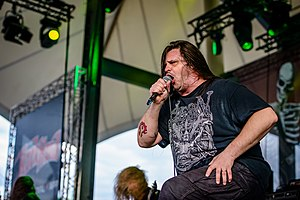 George Fisher (musician) - Corpsegrinder performing at RockHard Festival 2016.