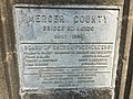 2017-09-05 11 14 52 Identification plaque on the bridge over the West Branch Shabakunk Creek connecting Glen Clair Drive to Central Avenue in Ewing Township, Mercer County, New Jersey.jpg