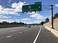 2018-10-24 13 00 24 View west along Virginia State Route 267 (Dulles Toll Road) at Exit 14 (Virginia State Route 674-Hunter Mill Road) in Wolf Trap, Fairfax County, Virginia.jpg