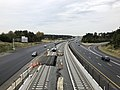 2018-10-26 09 59 42 View east along Virginia State Route 267 (Dulles Greenway) and the Silver Line of the Washington Metro from the overpass for Virginia State Route 606 (Old Ox Road) in Dulles, Loudoun County, Virginia.jpg