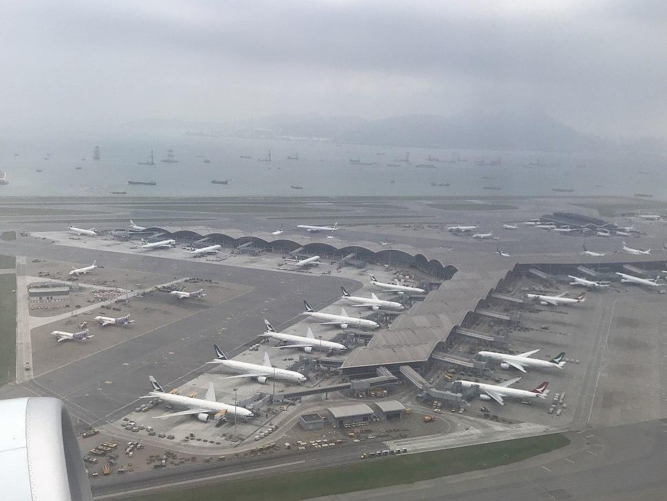 201805 Cathay's aircrafts at HKG
