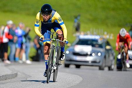 20180925 UCI Road World Championships Innsbruck Women Elite ITT Valeriya Kononenko 850 8990.jpg