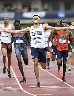 Isaiah Harris (athlete) American middle-distance runner