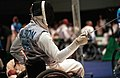 221000 - Wheelchair Fencing Michael Alston action 5 - 3b - Sydney 2000 match photo.jpg