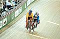 231000 - Cycling track Darren Harry Paul Clohessy action 2 - 3b - 2000 Sydney race photo.jpg