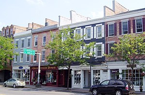 Skaneateles (village), New York - Shops on East Genesee Street, part of the Skaneateles Historic District (2012)