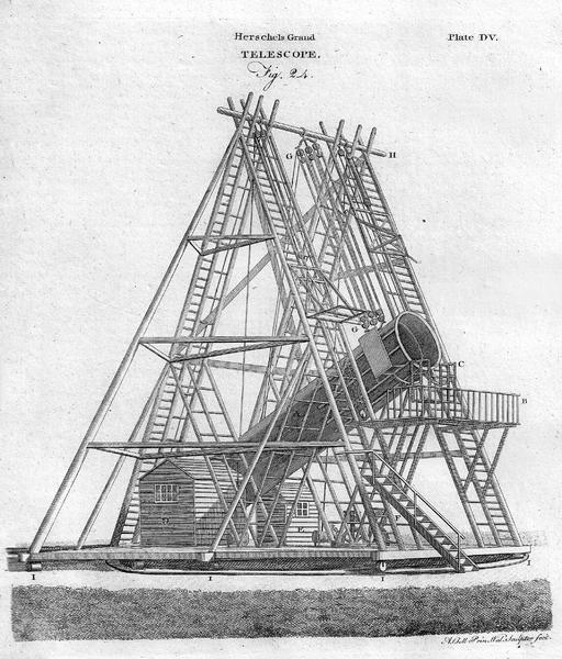 40 foot telescope 120 cm 48 inch reflecting telescope William Herschel