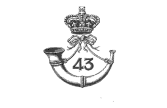 43rd (Monmouthshire) Regiment of Foot - Badge of the 43rd (Monmouthshire) Regiment of Foot Badge