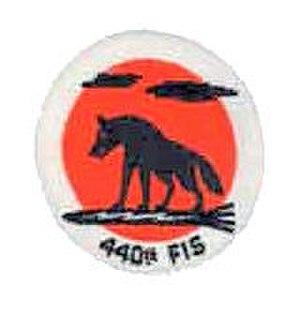 440th Fighter-Interceptor Squadron - Image: 440th Fighter Interceptor Squadron Emblem