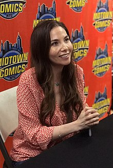Liu at a signing for Monstress #22 at Midtown Comics in Manhattan