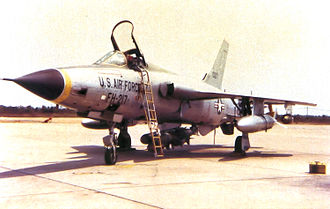 Korat Royal Thai Air Force Base - 67th TFS Republic F-105D-25-RE Thunderchief 61-0217. On 16 September 1965 Lt Col James Robinson Risner was flying this aircraft from Korat on a mission over Route Pack 4 when he was shot down by anti-aircraft artillery. He ejected successfully and became a prisoner of war. He was released in March 1973.