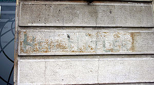 A Fascist political graffiti dating from 1943/...