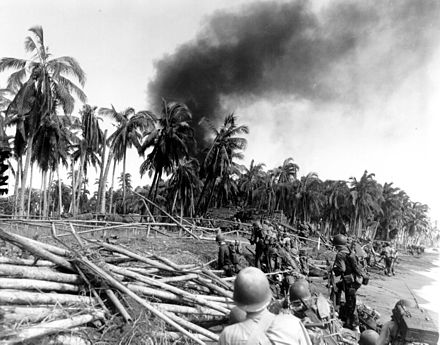 American troops advance towards San Jose on Leyte Island, 20 October 1944. 7th Cavalry Leyte Island 20 10 1944.jpeg