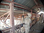 82nd SB-CMRE troops deconstruct former Canadian prison compound in Afghanistan 131127-A-ZZ999-002.jpg