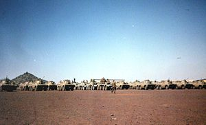 8 South African Infantry Battalion - 8 SAI preparing for joint training with 61 Mech Battalion, Lohatla Army Battle School 1993