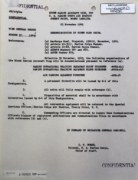 File:9th MAW - 19451123 - Wing Special Order 57-1945 - Decommissioning units.pdf