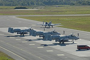 Estonian Defence Forces - A-10 ground attack aircraft from Michigan Air National Guard at Ämari Air Base.