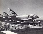 A-4C Skyhawks of VA-46 on USS Shangri-La (CVA-38) in 1965.jpg