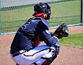 A.J. Pierzynski catches a side session (25279117435).jpg