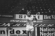 ABN-tennistoernooi in Rotterdam Duitse Hans Jürgen Pohmann in actie, Bestanddeelnr 927-0843