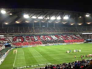 2013 AFC Champions League Final - The first leg of 2013 AFC Champions League Final in Seoul World Cup Stadium.
