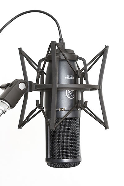 File:AKG Perception 120 USB condenser microphone with SH 100 shock mount.jpg