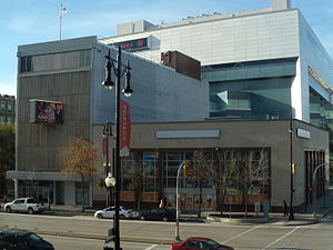 Aboriginal Peoples Television Network - APTN building on Portage Avenue in Winnipeg, Manitoba