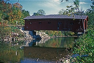 National Register of Historic Places listings in Bennington County, Vermont - Image: ARLINGTON GREEN COVERED BRIDGE