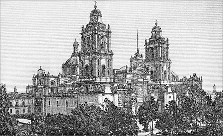 ASOM D010 Mexico city cathedral and zocalo circa 1880.jpg