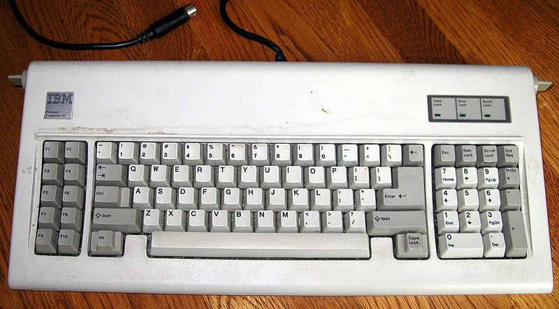 Teclado del modelo IBM PC AT