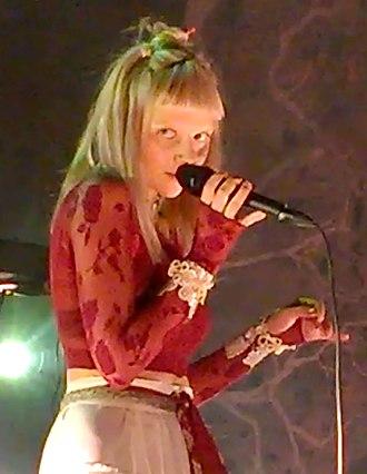 Aurora (singer) - AURORA singing at concert in Sentrum Scene, Oslo, Norway in 14 December 2017