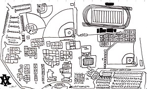 Amador Valley High School - Student-drawn map of current school campus