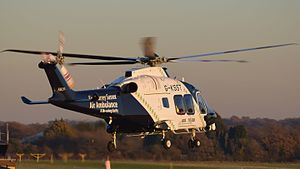 Kent, Surrey and Sussex Air Ambulance - AW169 Helicopter G-KSST at Redhill Aerodrome in November 2016