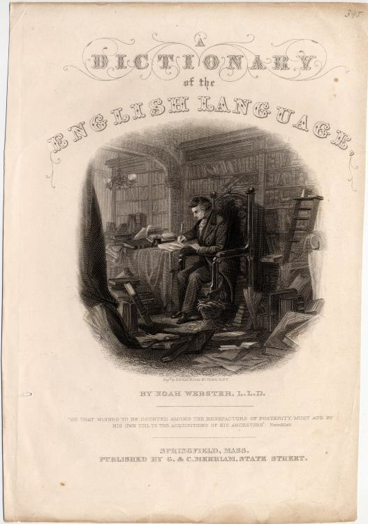 A Dictionary of the English Language Noah Webster title page