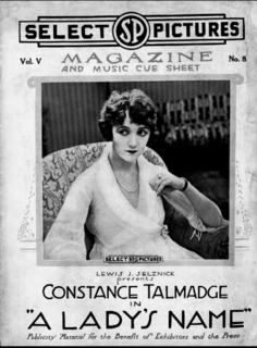 <i>A Ladys Name</i> 1918 American comedy-drama film directed by Walter Edwards